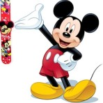 Mickey Mouse Kids child's children's SNAP ON SLAP WATCH