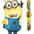 Minion Kids child's children's SNAP ON SLAP WATCH